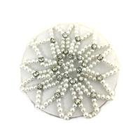 (BUN SKINS Pearls and Rhinestones Bun Hair Cover Accessory for Dancers)