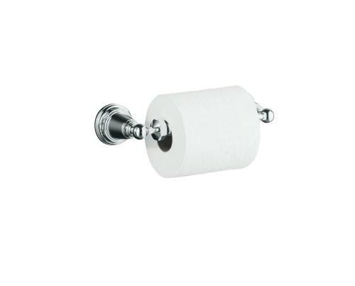 KOHLER K-13114-CP Pinstripe Toilet Tissue Holder, Polished Chrome by Kohler