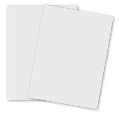100% Pure Cotton Brilliant White Letter Size 118C Cardstock Paper - 250 sheets per pack by Paper Papers