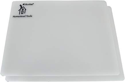 Flexible Cutting Board Mat Set of 2 Professional Grade, Antimicrobial, Heavy Duty From Homestead Tools Thicker and Durable For Chopping Slicing and Dicing!!! 11.5