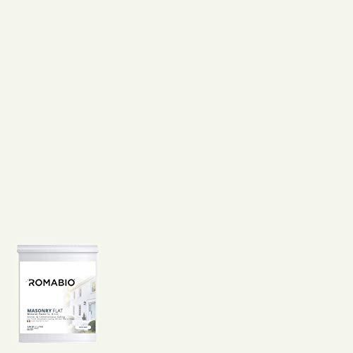 (Romabio Masonry Flat, Italian Mineral Paint, Brick, Stone & Cementitious Siding (1L, Avorio White))