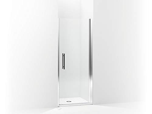 (Sterling 5698-33S-G05 Finesse Peak Frameless Pivot Shower Door with Clear Glass, 33-in W x 67-in H,)