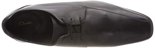 Leather Nero Glement Over Derby Stringate Scarpe Black Clarks Uomo xZ8UvwwY
