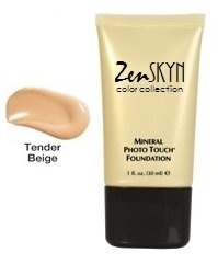 Zen SKYN Color Collection Mineral Photo Touch Foundation - Tender Beige (Tender Touches Collection)