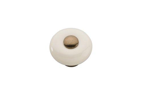 (Hickory Hardware P222-VBZLAD Tranquility Almond Cabinet Knob, Veneti Bronze with Light Almond)