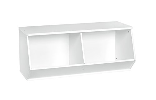 ClosetMaid 1621 KidSpace Angled Organizer, White (Cubbies Closetmaid)