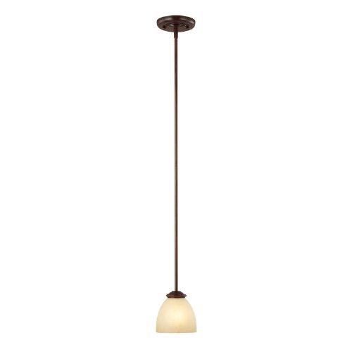 Capital Lighting 3941BB-201 Mini Pendant with Tumbleweed Glass Shades, Burnished Bronze Finish Burnished Bronze Finish Pendants