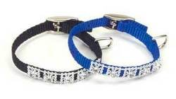 Coastal Pet Products DCP3221RED 5/16-Inch Nylon Jewel Dog Collar, XX-Small, Red ()