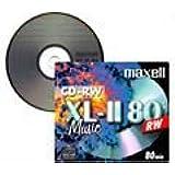 Lot de 10 CD-RW Audio Maxell 80 Min., livrés dans boîtier plastique 10mm