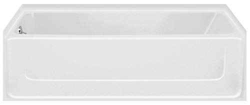 STERLING 61041110-0 All Pro Bathtub, 60-Inch x 30-Inch x 15-Inch, Left-Hand, - Vikrell Material