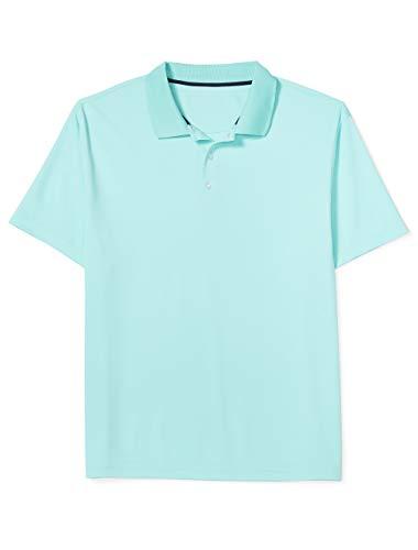 Amazon Essentials Men's Big & Tall Quick-Dry Golf Polo Shirt fit by DXL, Aqua, 7X ()