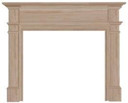 Pearl Mantels 120-48 Windsor Fireplace Mantel Surround, 48-Inch, Unfinished by Pearl Mantels