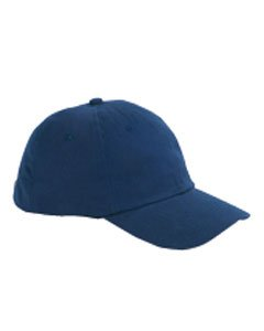 Big Accessories BX001 6-Panel Twill Unstructured Cap - Navy - One Size