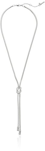 """Kenneth Cole New York Knot Silver Y-Shaped Necklace, 24"""""""
