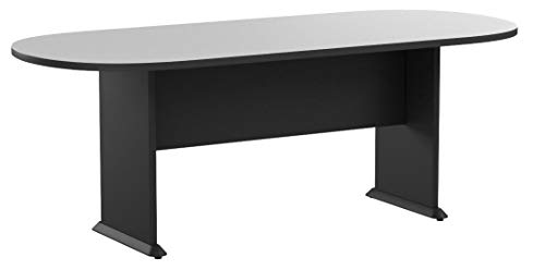 Bush Business Furniture Series A & C 79W x 34D Racetrack Oval Conference Table in Slate by Bush Business Furniture (Image #7)