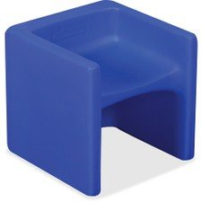 Childrens Factory Chair Cube - Blue (Cube Chairs Kids)