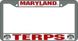 Maryland Terrapins Chrome License Plate Frame ()
