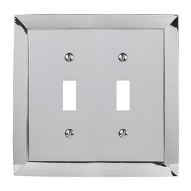 Allen + Roth Double Toggle Polished Chrome Finish Decorator Wall Plate (Allen Roth Covers)