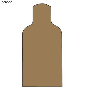 CARDBOARD BOBBER TARGET 100 PACK by Law Enforcement Targets