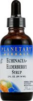 Echinacea-Elderberry Syrup, 2 fl oz by Planetary Herbals (Pack of 2)