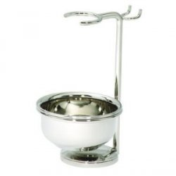 - Edwin Jagger Shaving Razor, Brush & Bowl Stand - Nickel Plated by Edwin Jagger