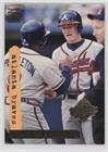 Atlanta Braves World Series (Atlanta Braves (Baseball Card) 1995 Topps Stadium Club - [Base] - Super Teams World Series #1)