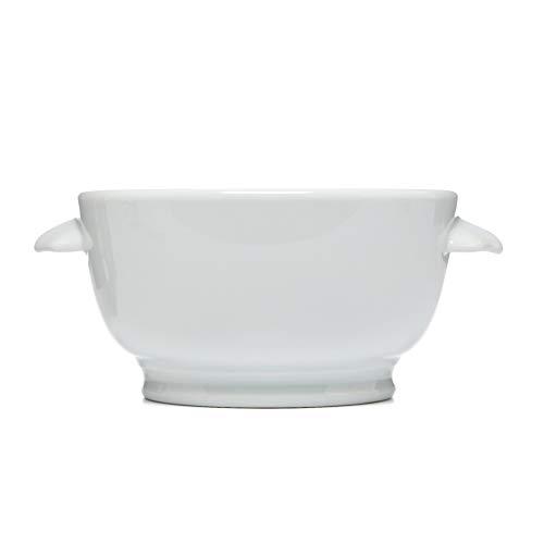 (Pillivuyt France, Classic Porcelain French Onion Soup Bowl with Ears, 15 Ounces)