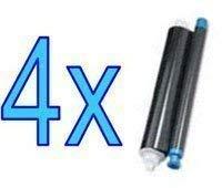 (4x Panasonic KX-FA52X Compatible Thermal Transfer Roll Fax Films For KX-FP205 KX-FP215 KX-FC225 KX-FC255 - 4 Roll Pack)