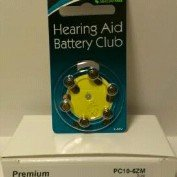 Hearing Aid Battery Club SIZE 10 Premium Hearing Aid Batteries: Yellow Tab: 42 Pack : Mercury Free (Premium Hearing Aid)