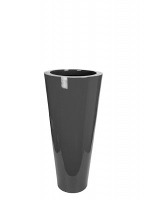 Le Present J19570.095 S Grey Fiber Pot Cone44; 27.6 x 13.7 in. by Le Present