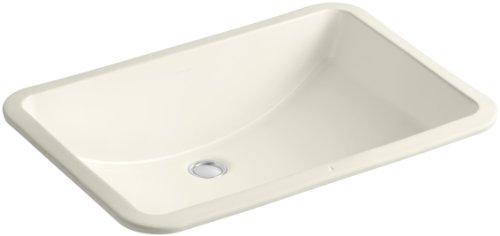 KOHLER K-2215-96 Ladena Undercounter Bathroom Sink, Biscuit