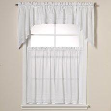 24' Tier Kitchen Curtains - Crochet 24