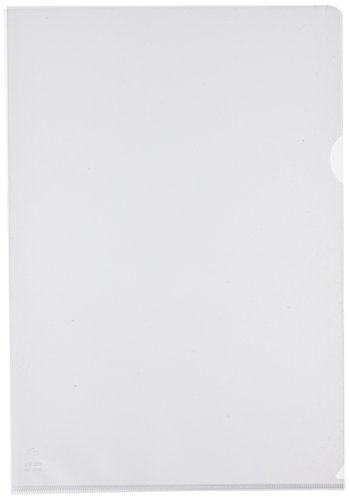 (GRAFO Plas 5257070Files Foolscap Clear (Pack of 100))