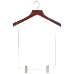 17'' Mahogany Wood Suit Hangers by Retail Resource