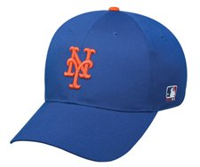 MLB ADULT New York METS Home Blue Hat Cap Adjustable Velcro TWILL -