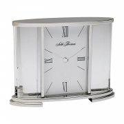 (Seth Thomas Silver Glass Carriage Table Clock)