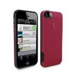 Apple iphone 5C Belkin Grip Candy Case - Blacktop and Crimson - Retail Packaged