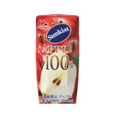 Morinaga Milk Industry Co., Ltd. Sunkist 100% Apple (Prisma container) 200ml paper pack X24 pieces by Sunkist