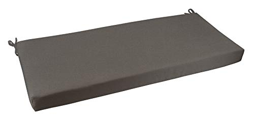 RSH Décor Indoor/Outdoor Bench Cushion Made from Premium Sunbrella Canvas Charcoal Fabric - 2