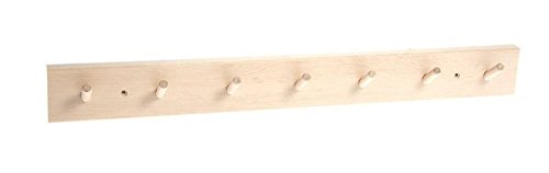 Iris Hantverk Birch Wood Wall Rack with 7 Hooks