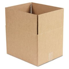 ** Corrugated Kraft Fixed-Depth Shipping Carton, 12w x 15l x 10h, Brown, 25/Bundle