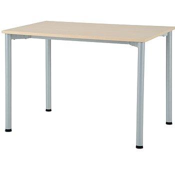 ミーティングテーブル 幅1200×奥行700×高700(mm) ホワイト/ナチュラル (NA ナチュラル) B0093TP3R4 NA ナチュラル NA ナチュラル