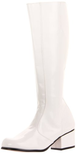 Funtasma Women's Gogo/W Knee-High Boot,White Patent,9 M US
