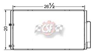 CSF 04-10 Toyota Sienna Condenser ALUM PARALLEL FLOW 10430
