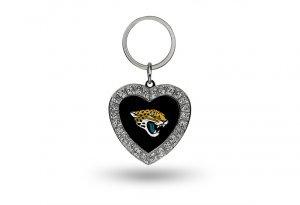 Rico NFL Jacksonville Jaguars Rhinestone Heart ()