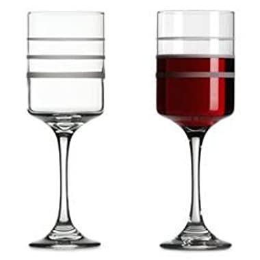 Red Bottle Chateau Wine-Trax The Measuring Wine & Beverage Glass set of 2 Glasses Diet Portion Control