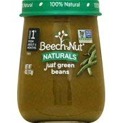 Beech-Nut Stage 1 Baby Food, Green Beans, 4 Ounce (10 Count) (Pack of 2)