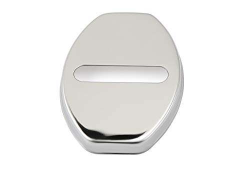 - Stainless Steel Door Lock Decoration Cover Door Lock Cover Sticker for for Audi A1 A4 A5 A7 A8 Q3 A3 Q5 Car Styling