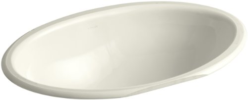 (KOHLER K-2240-96 Vintage Undercounter Bathroom Sink, Biscuit)