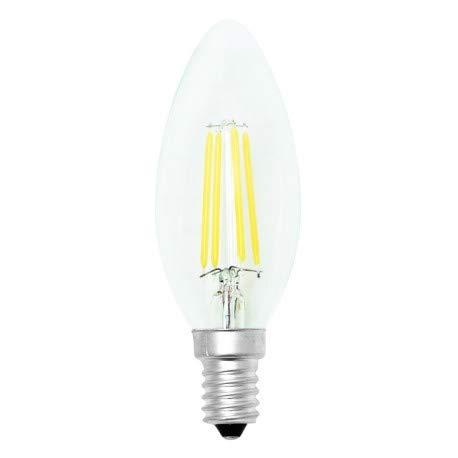 Alverlamp LVFIC3504 - Lámpara led vela filamento 4w e14 2700k: Amazon.es: Bricolaje y herramientas